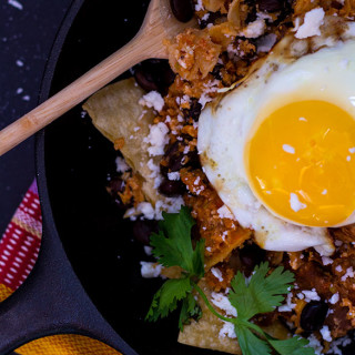 Red Salsa Chilaquiles - A traditional Mexican dish, perfect for breakfast, brunch or dinner!