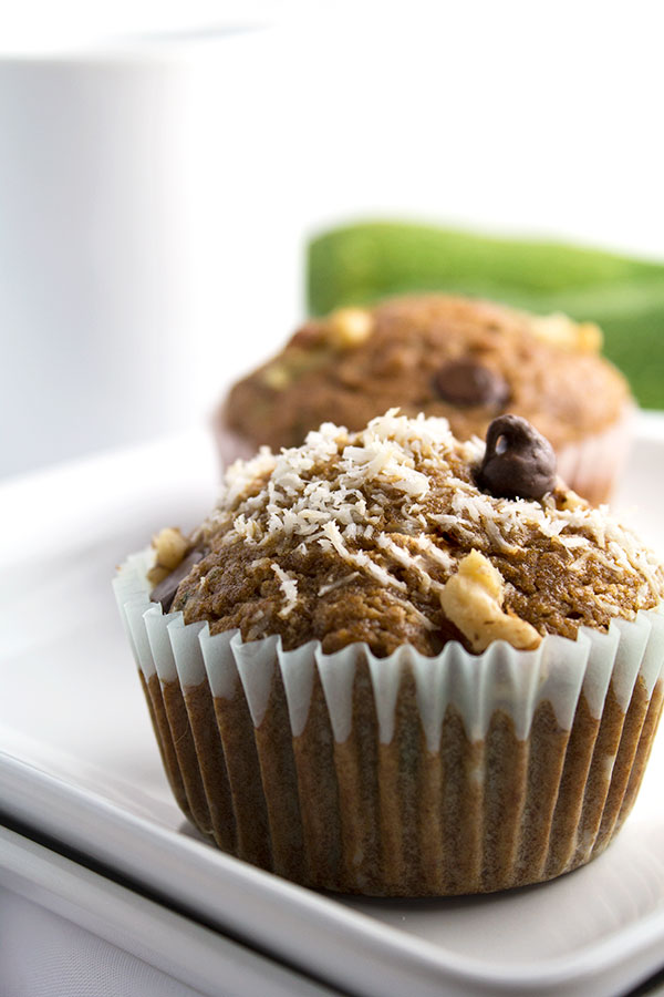 Coconut Zucchini Muffins | |These Coconut Zucchini Muffins are moist, healthy, nutrient packed from coconut sugar and zucchini and make a nice guilt-free treat! | espressomykitchen.com