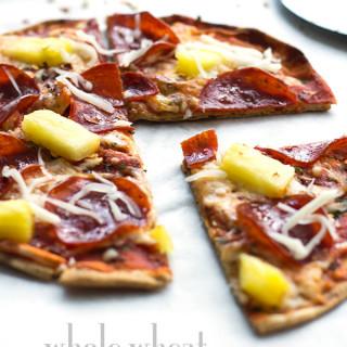 Turkey Pepperoni Pita Pizza- A quick and healthier pizza alternative