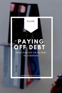 Paying off debt – How I paid off 55k of debt in 14 months