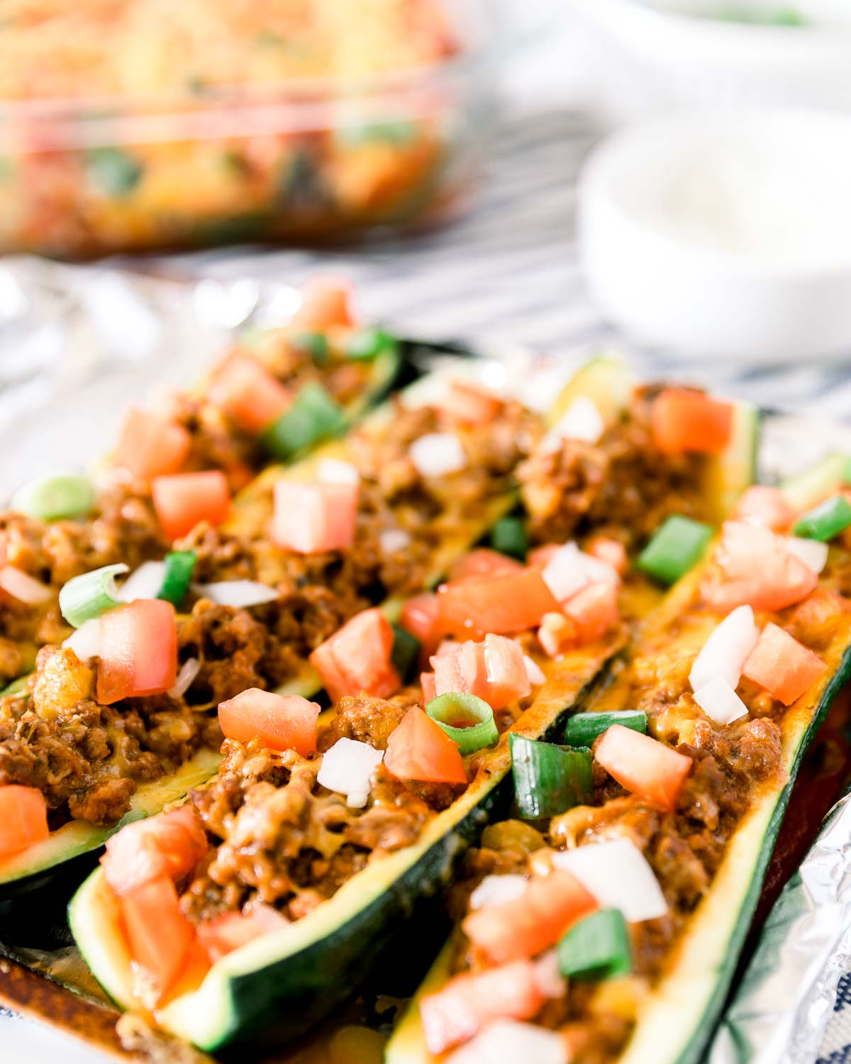 Zucchini Boats are perfect as an appetizer or main entree | espressomykitchen.com #zucchini #zucchinboats #healthyeating